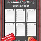 FREE Seasonal Spelling Test Printables