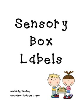 FREE Sensory Table Poster, Sensory Box Labels