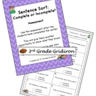 FREE Sentence Sort Assessment (Complete or Incomplete)