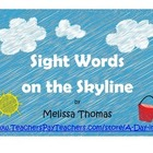 FREE Sight Word on the Skyline Game