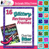 FREE Simple Glitter Rectangle Frames / Borders Clipart - C