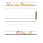 FREE Simple Morning Message/Agenda Message