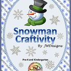 FREE Snowman Holiday Craftivity for Pre-K and Kindergarten