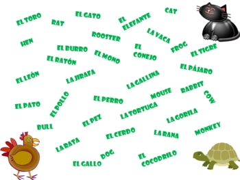 FREE Spanish Vocabulary Games