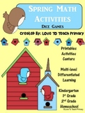 FREE Spring Math Activities (Dice Games)
