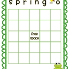 FREE Spring-O Bingo Board