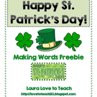 FREE St Patricks Day Making Words