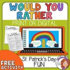 FREE St. Patrick&#039;s Day Would You Rather Questions