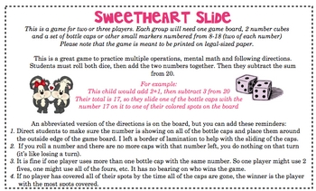FREE Subtraction Slide - Valentine Version