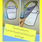 FREE Summer Bucket List Glyph and Writing activity End of
