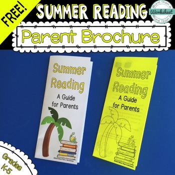 FREE! Summer Reading Brochure for Parents