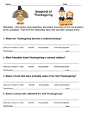 FREE! Thanksgiving Scavenger Hunt for Beginning Researchers