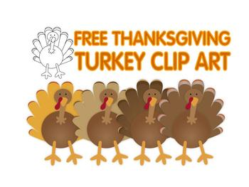 FREE Thanksgiving turkey clip art