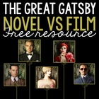 FREE: The Great Gatsby Novel vs. Film Analysis Using Manil