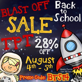 {FREE} TpT Blast Off Back to School Sale Button