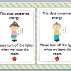FREE Turn out the Lights Sign (Conserve Energy)
