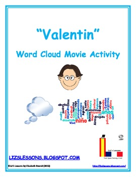 "FREE ""Valentin"" Word Cloud Movie Activity"