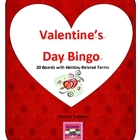 FREE Valentine&#039;s Day Bingo 20 Cards
