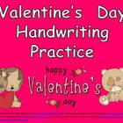 FREE Valentine's Day Handwriting Practice- Kindergarten &