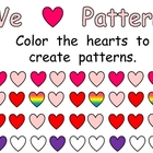 FREE Valentine&#039;s Day Patterns Practice Page for Kindergarten