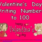 FREE Valentine&#039;s Day Writing Numbers to 100- Kindergarten 