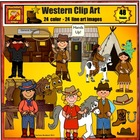 (FREE Wanted Sign w/ preview) Howdy Partners! - Western Clipart