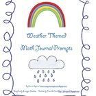 FREE Weather Themed Math Journal Prompts