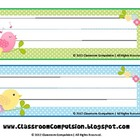 FREE Whimsical Birdies Name Plates