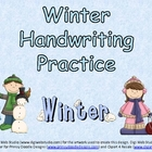 FREE Winter Handwriting Practice- Kindergarten and First Grade