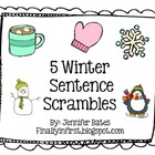 FREE Winter Scrambled Sentences