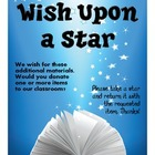 FREE Wish Upon a Star Materials Request