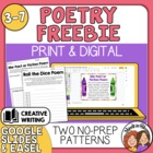 FREE Write a Poem Using Dice Poem Activity