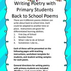 FREE!  Writing Poetry With Primary Students:   School Poems