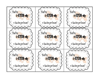 FREE You're O-Fish-Ally a _________! Student Gift Tags