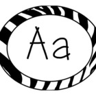 FREE Zebra Theme Word Wall Alphabet