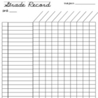 FREE grade record sheet (26 students)