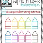 FREE on TpT!! Colorful Alphabet Writing Houses