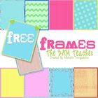 FREE on TpT:  Valentine&#039;s Day Colorful Frames by The 3AM Teacher