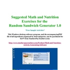 FREE sample: Applied Math & Nutrition software generated e