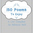 FREEBIE 150+ Poems to Enjoy (A List of favorite poems + li