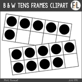 FREEBIE: B & W Tens Frames {Clipart Collection}