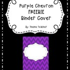 FREEBIE Bright Purple Chevron Binder Cover