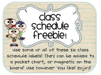 FREEBIE! Class Schedule Labels