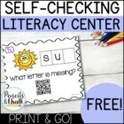 FREEBIE! CvC Task Cards With QR Code Answers Sample Pack!