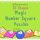 FREEBIE Differentiated 2D Shape Magic Number Square Puzzle