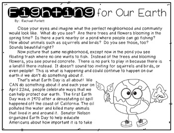 "FREEBIE Earth Day Article:  ""Fighting For Our Earth"""