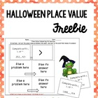 FREEBIE Halloween Themed Place Value Practice {Common Core