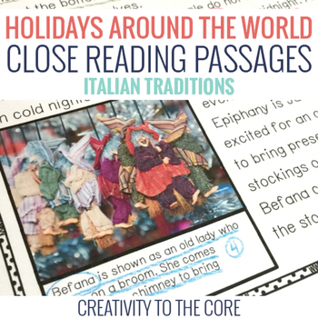 FREEBIE Holidays Around the World Close Read Sample