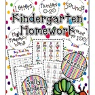 FREEBIE! Kindergarten Homework Packet {Phonics, High-Frequ