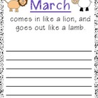 FREEBIE March Comes in Like a Lion.. Lamb. Poster: or Writ